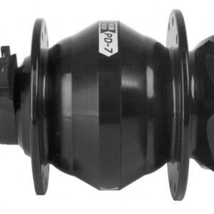 Tom - Naafdynamo 26-28 Inch Schijfrem 6v/3w 24g Aluminium Zwart