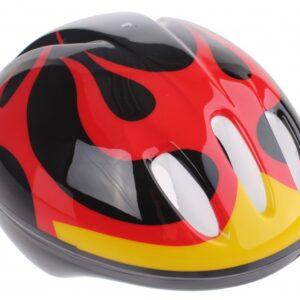 Bike Fun kinderhelm junior zwart/rood maat 50/54 cm