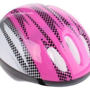 Bike Fun kinderhelm meisjes roze/wit maat 50/54 cm