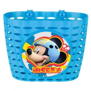 Disney fietsmand Mickey Mouse junior 20 cm blauw