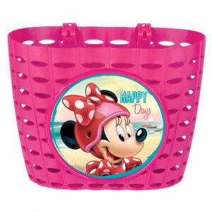Disney fietsmand Minnie Mouse junior 20 cm roze
