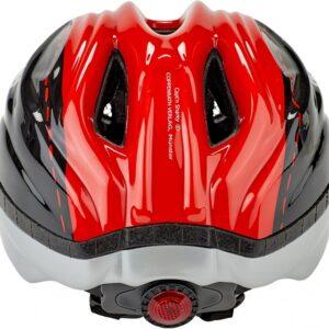 KED fietshelm Meggy Sharky jongens zwart/rood maat 52 58 cm