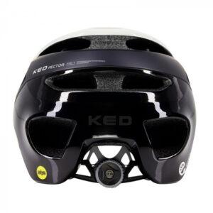 KED fietshelm Pector Me 1 unisex zwart/wit maat 58 61 cm