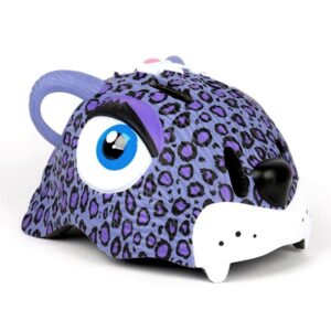 Kinderhelm / Fietshelm Paarse Luipaard / Purple Leopard Small 49-55 cm