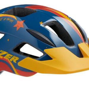 Lazer fietshelm Lil Gekko Star junior blauw/geel maat 46 50 cm
