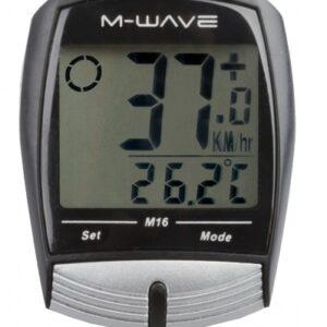 M Wave Fietscomputer 16 Functies Zwart