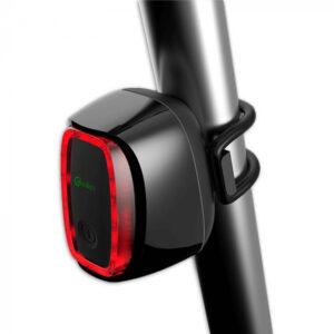 Meilan achterlicht met remlicht X6 USB zwart