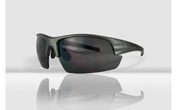 Mirage Sportbril / Fietsbril met 3 paar lenzen - Grijs / Zwart