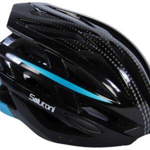 Salutoni fietshelm heren zwart/blauw 58 61 cm