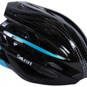 Salutoni fietshelm unisex 54 58 cm zwart/blauw