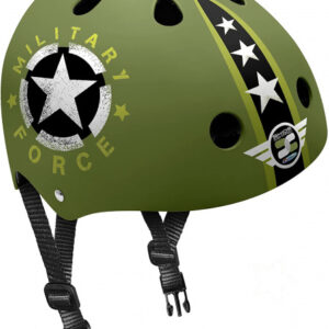 Stamp helm Skids Control Military junior EPS/ABS groen maat 54 60