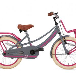 Supersuper - Lola 18 Inch 28 Cm Meisjes Terugtraprem Roze/grijs