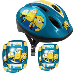 Universal helm Minions 2 junior EPS/ABS blauw 5 delig mt XS/S