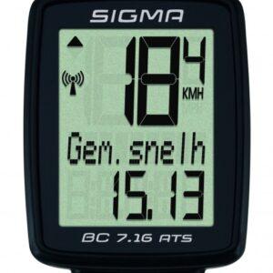 Sigma fietscomputer BC 7.16 ATS zwart