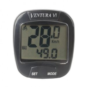 Ventura fietscomputer VI 6 functies zwart