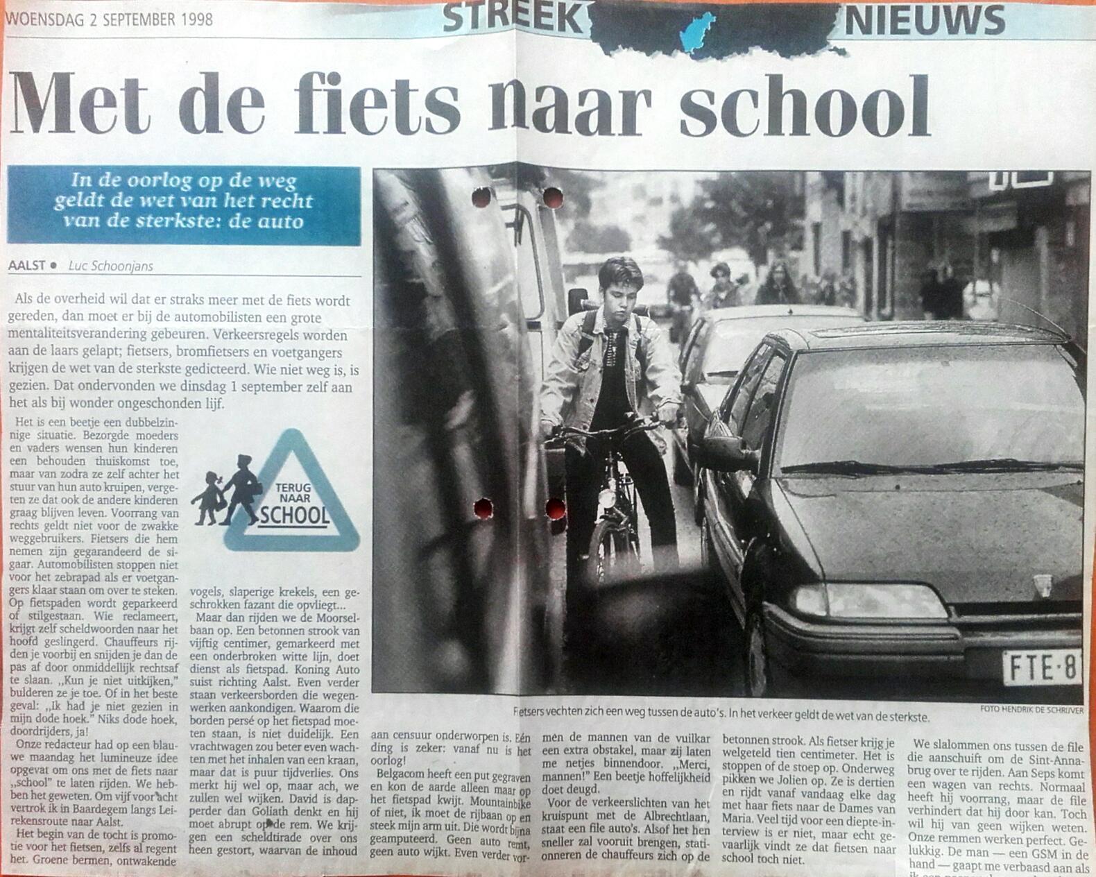1998-09-02-Met de fiets naar school