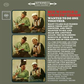 """Wanted to Do One Together - Ben Webster and Harry """"Sweets"""" Edison"""