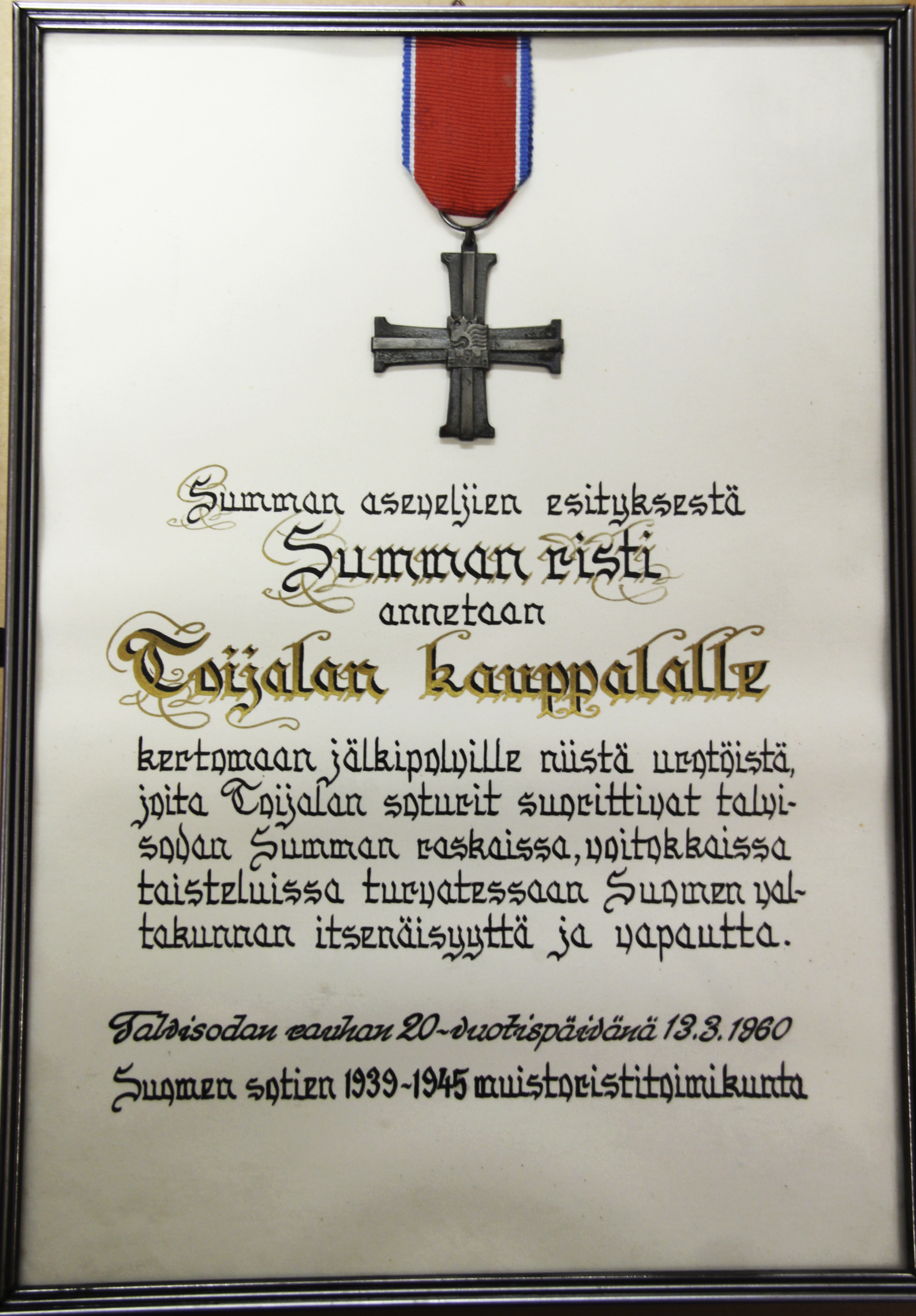 Decorations of Finland – Winter War Campaign Crosses