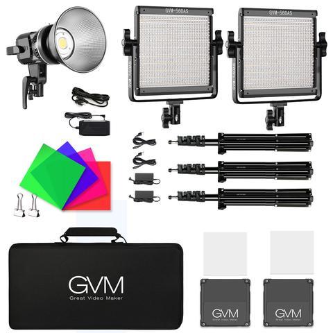 gvm as bi color led  light panel kit and ls ps led daylight light  large
