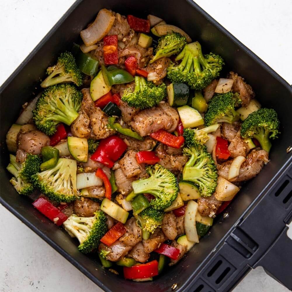 grønnsaker airfryer test