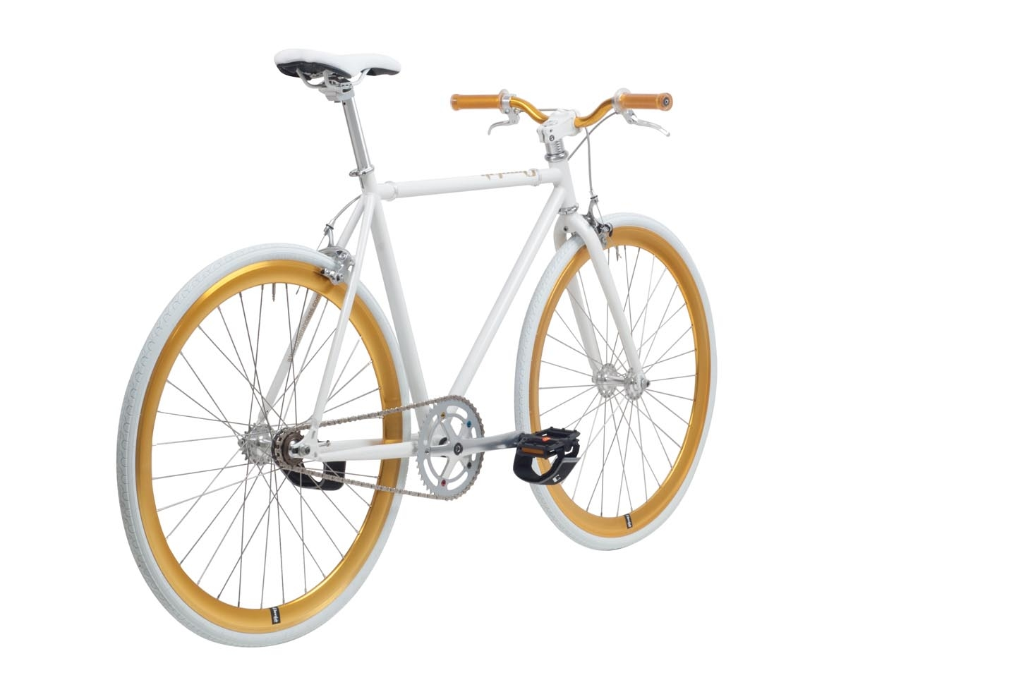 "Cheetah 28"" Fixie 3.0 - 59cm - Wit/Goud"