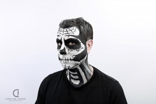 Dia de Los Muertos Halloween skull
