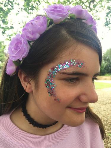 Festival glitter using bio-glitters