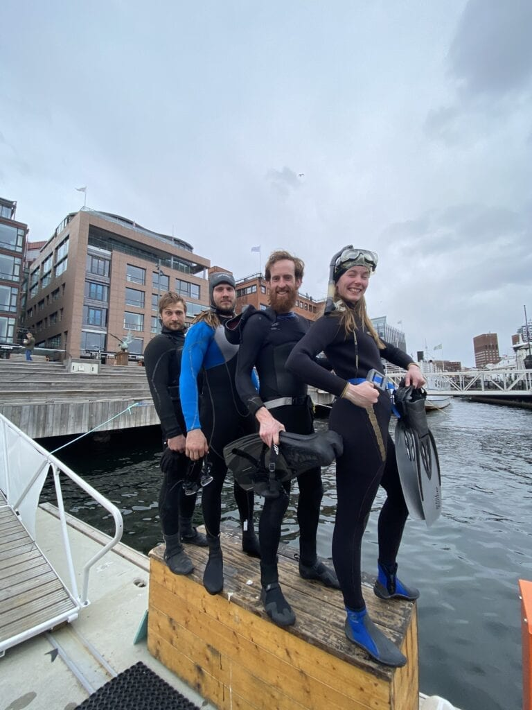 Fjord CleanUP divers