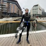 diving for trash at Tjuvholmen