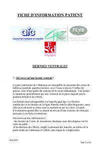Hernie ventrale AFC