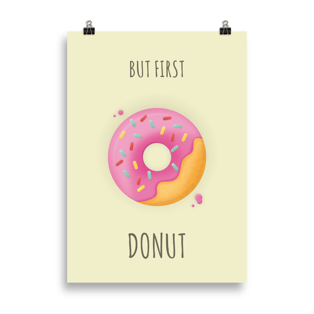 But first donut