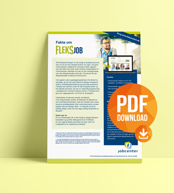 Download pdf. med beskrivelse af fleksjobordningen