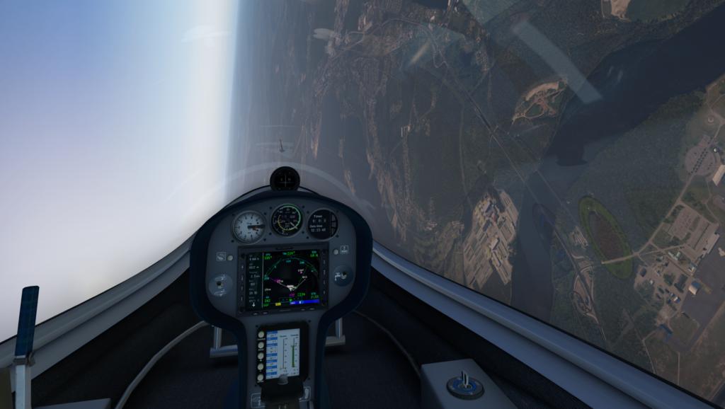 Skarp högersväng Antares 20E segelflyg