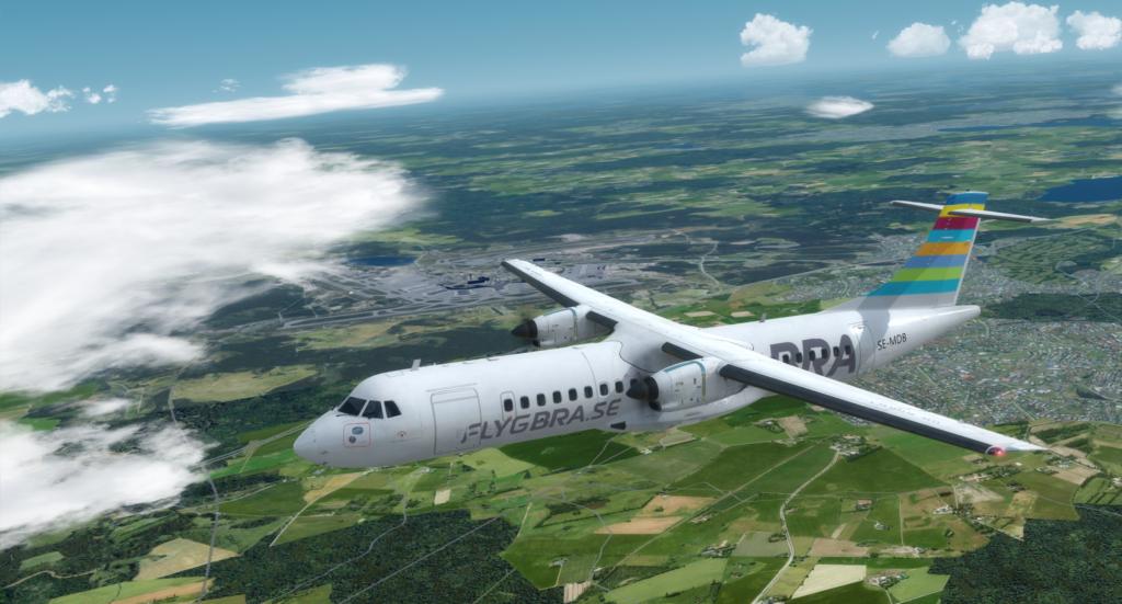 FlygBRA ATR stigandes öst om arlanda