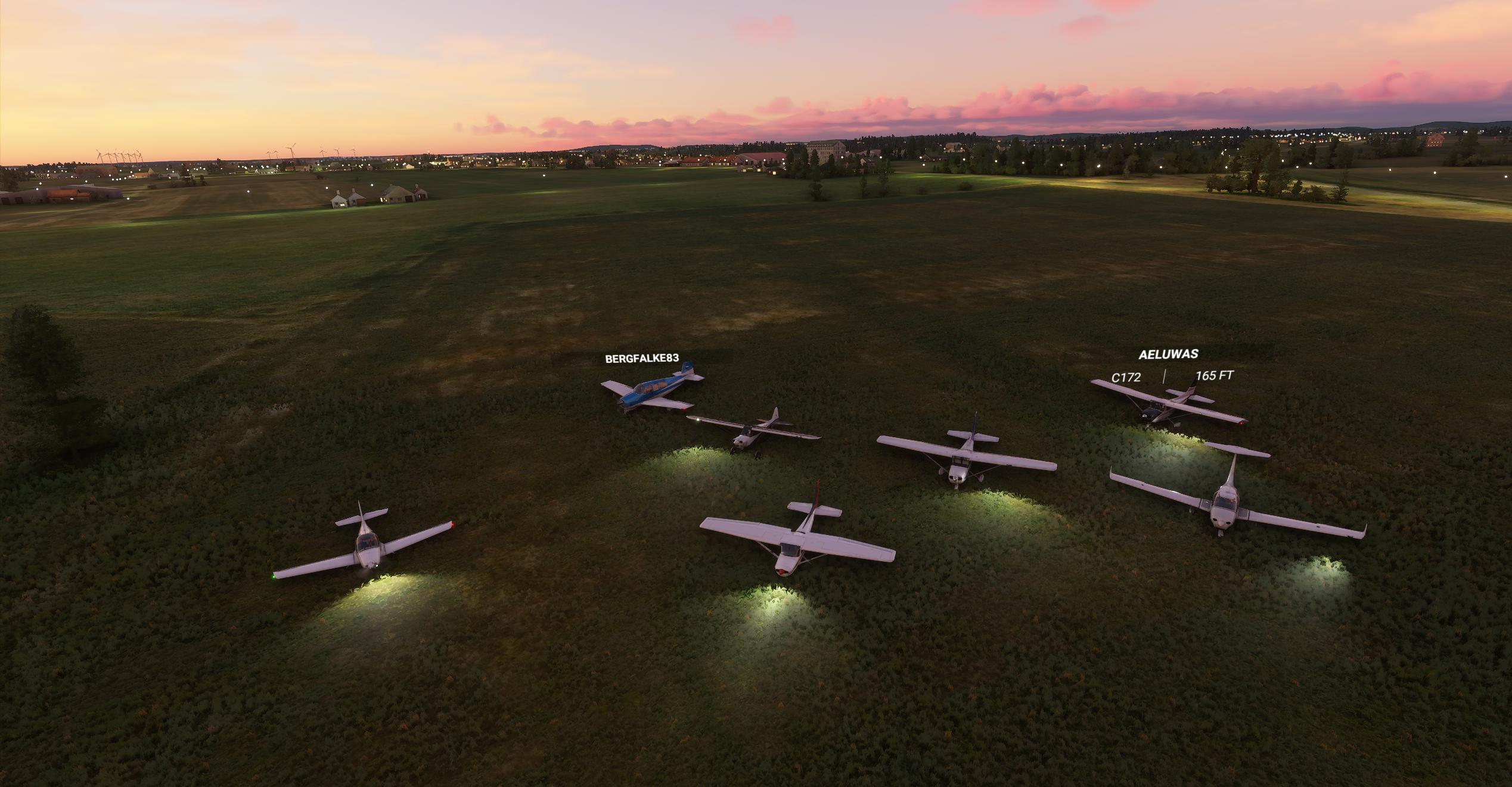 Bild på en gruppflygning
