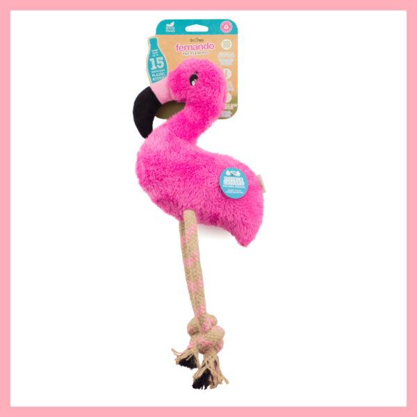 flamingo speelgoed hond speeltje