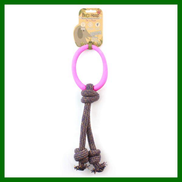 ring met touw speelgoed hond