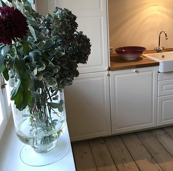 Køkken, landlig, idyl,