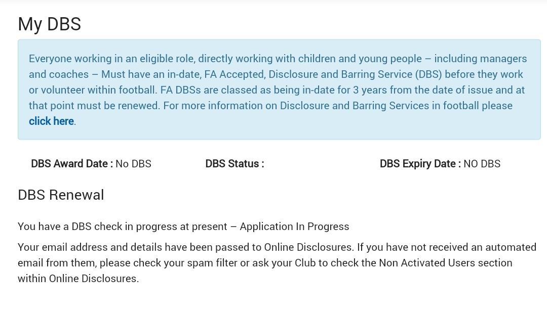 First DBS Message