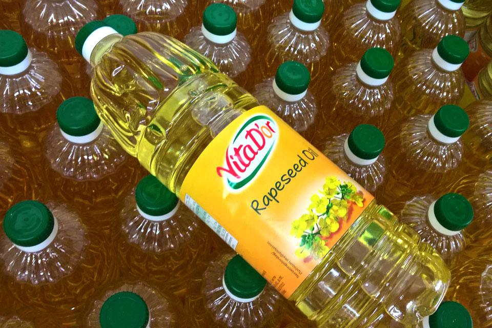 рафинированное масло в датском супермаркете