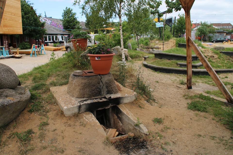 Самодельная печь в парке Зеленый Клин
