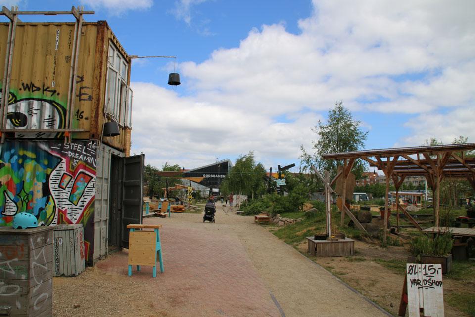 Много особенных деталей в парке Зеленый Клин