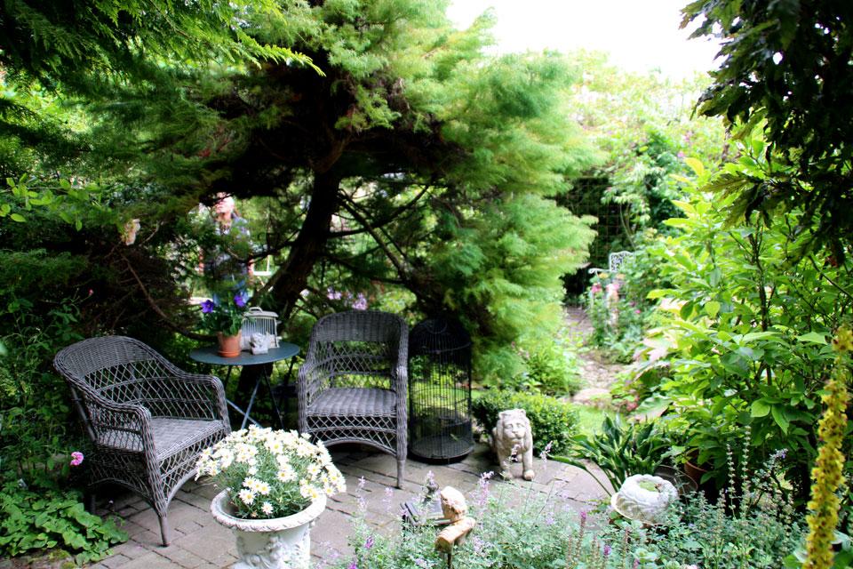 Сад в стиле ренессанс с множеством зон отдыха