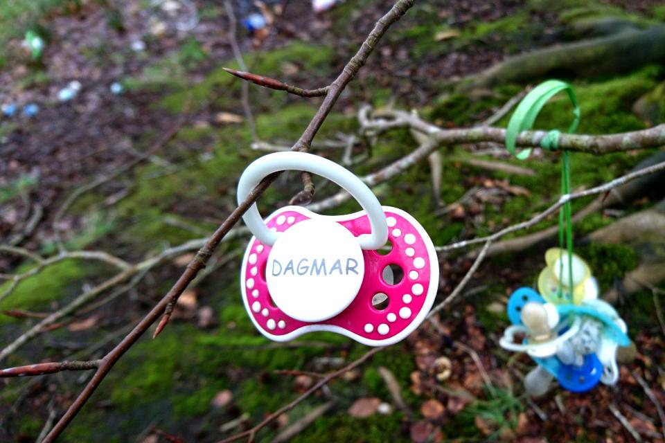 Именная соска девочки по имени Дагмар (Dagmar) в парке г. Хернинг, Дания