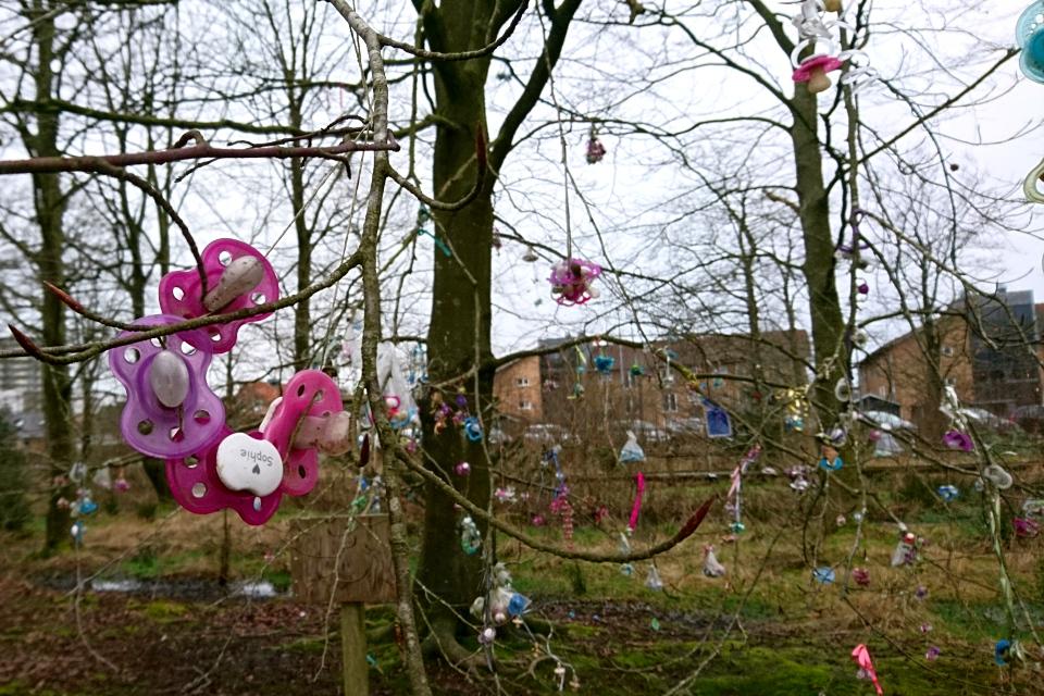 Соски девочки по имени София (Sofia) в парке г. Хернинг, Дания. Фото 24 фев. 2020
