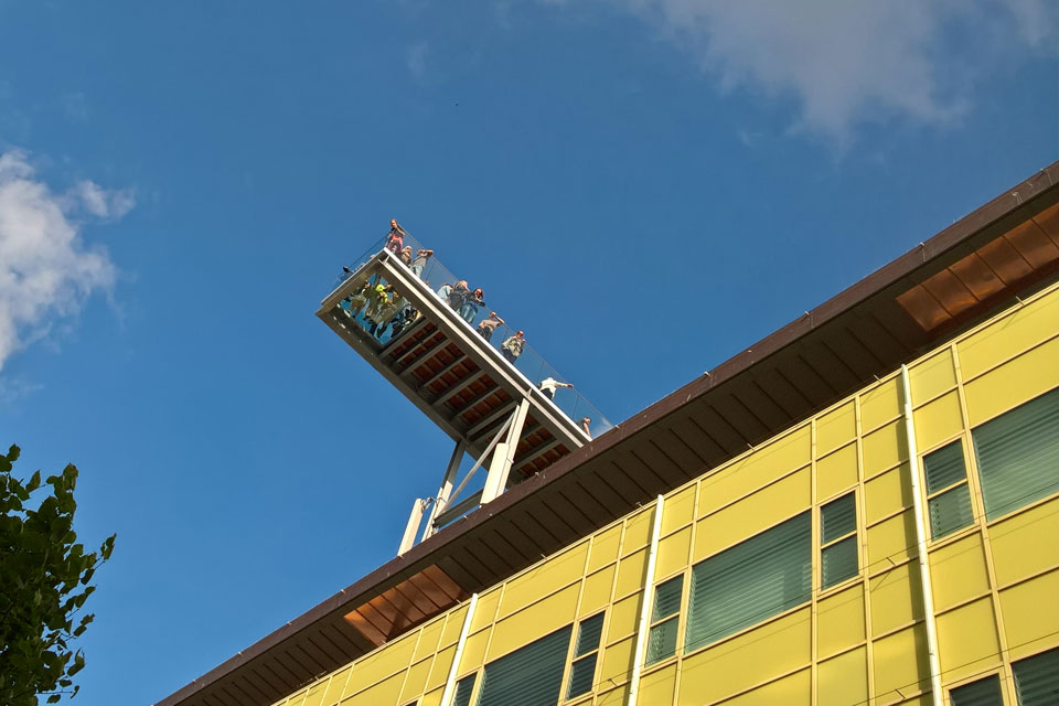 Смотровая рампа парка на крыше Саллинг Salling roof top