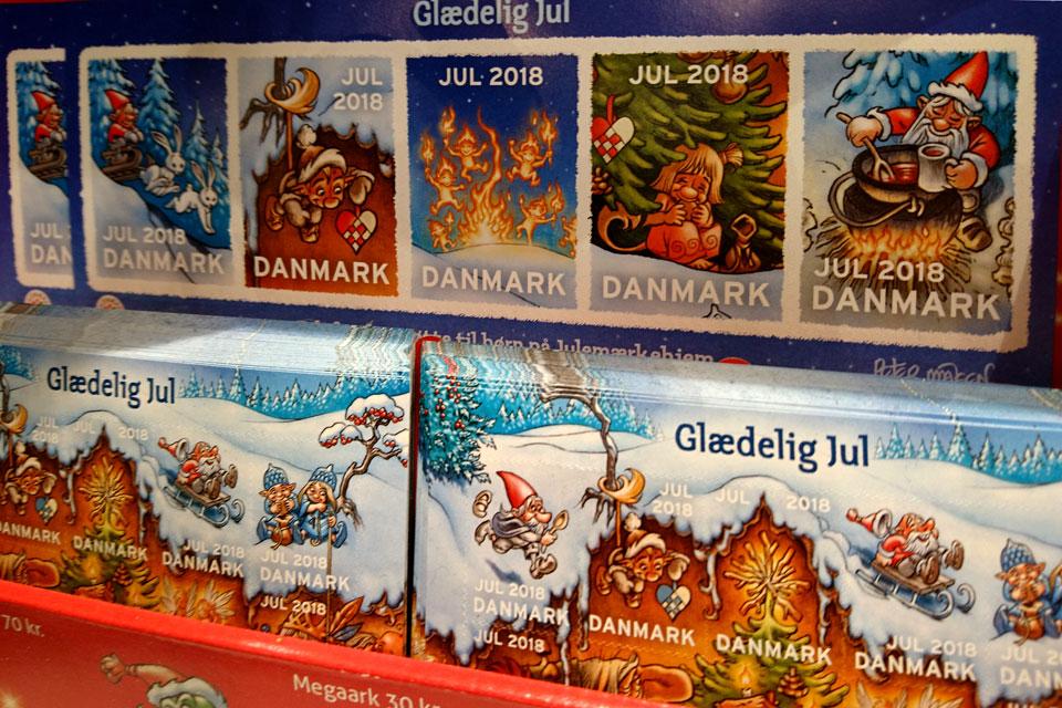 Глогг - одна из тем рисунков на рождественских марках 2018, Дания