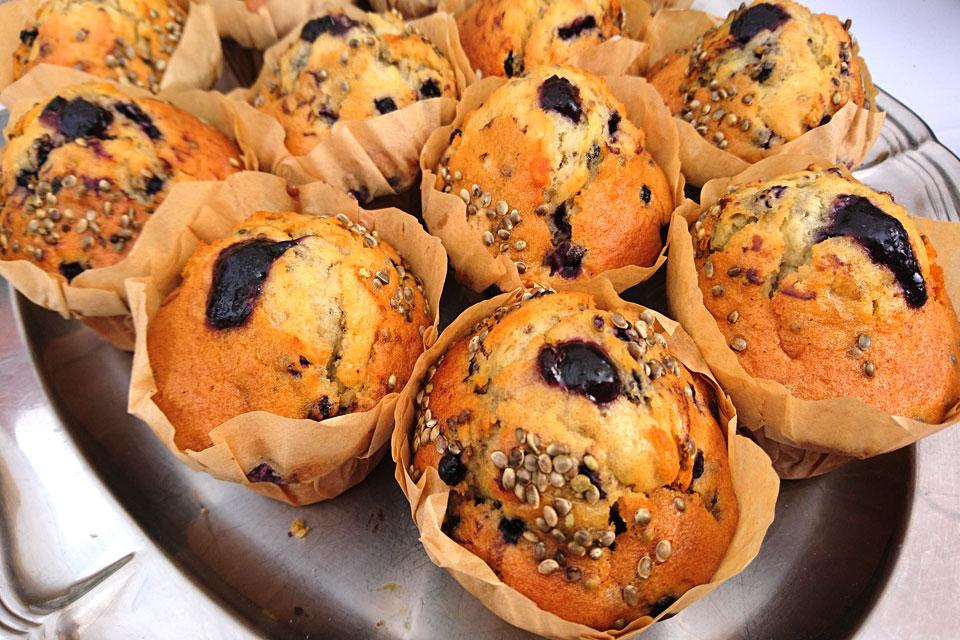 blåbær muffin med hamp