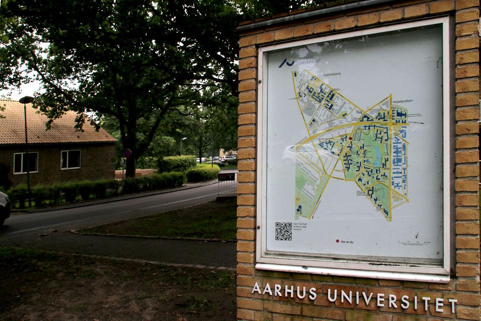 Карта университетского кампуса Орхусского университета