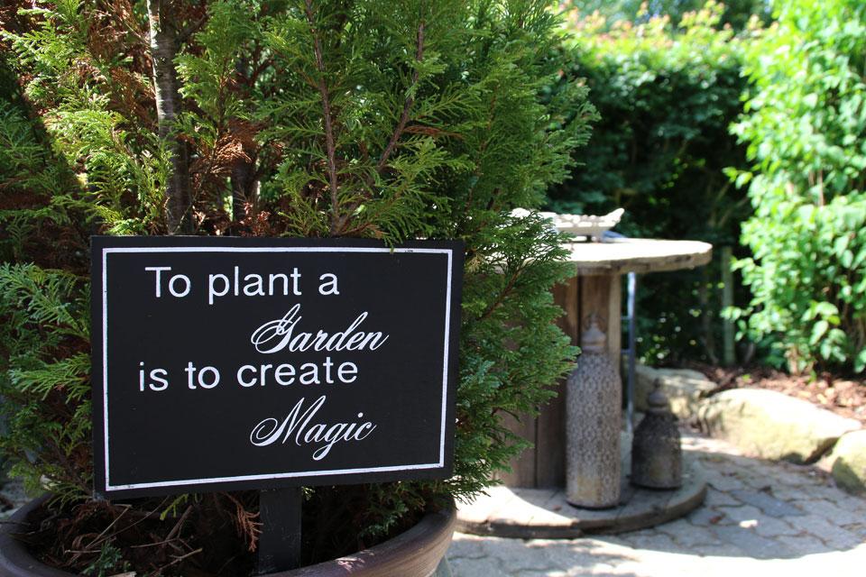 Создавать сад - значит создавать магию
